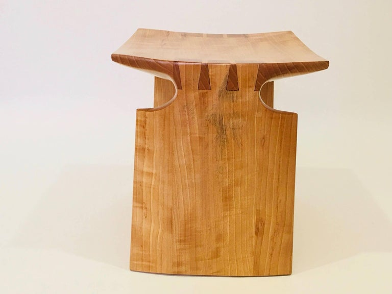 David N. Ebner Anigre Renwick Stool, 2017 In Excellent Condition For Sale In New York, NY