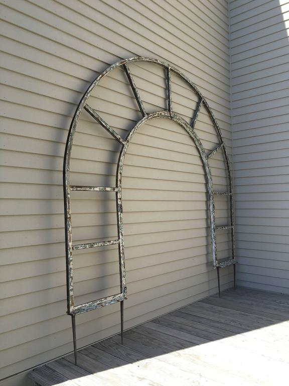 Estate Sized French Steel Arched Arbor Or Trellis At 1stdibs