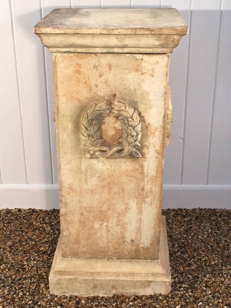19th Century Hand-Carved Limestone Statue of Children For Sale 1