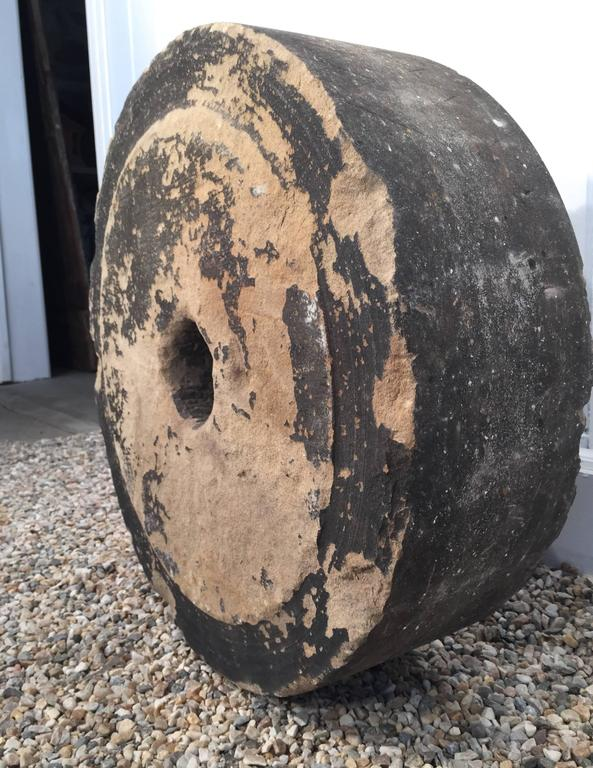 English 19th Century Carved Grindstone For Sale 1