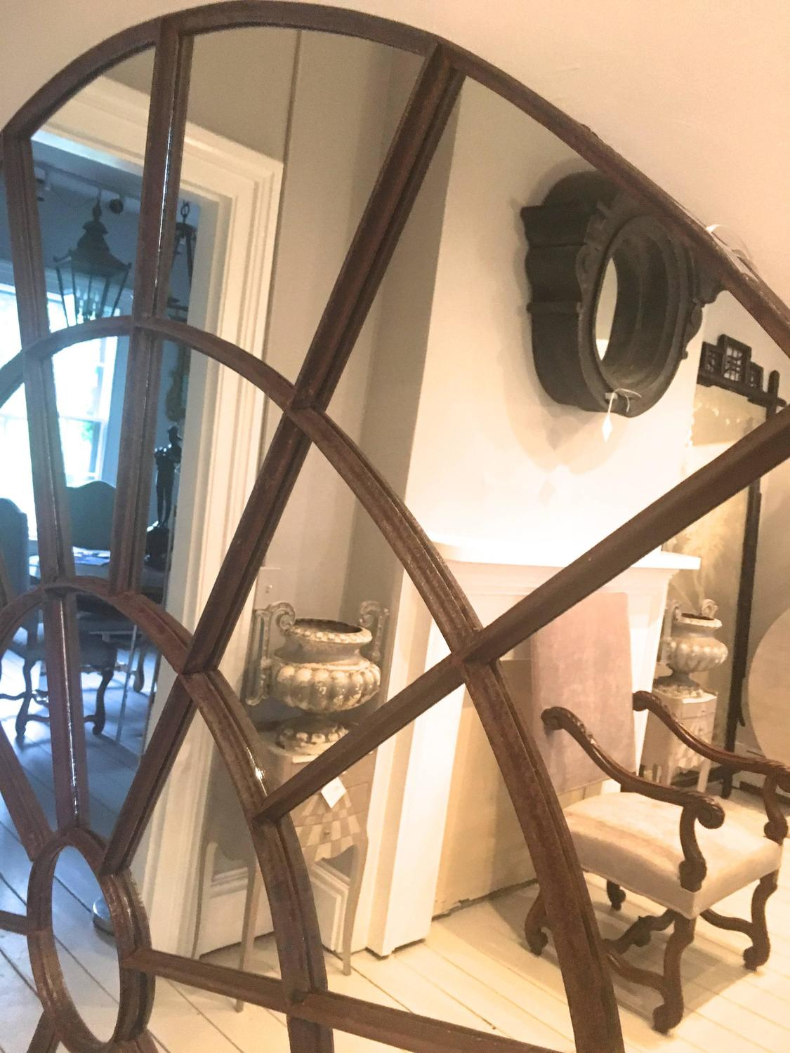 Enormous english cast iron window mirror for sale at 1stdibs for Window mirrors for sale