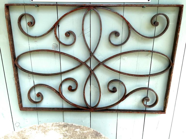 Bronze and Wrought Iron Decorative Panel/Mirror For Sale ...