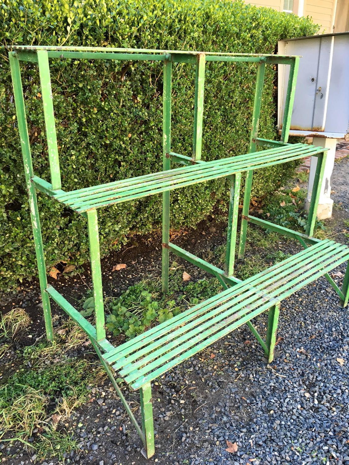 Three tiered french wrought iron plant stand circa 1900 for sale at 1stdibs - Tiered metal plant stand ...