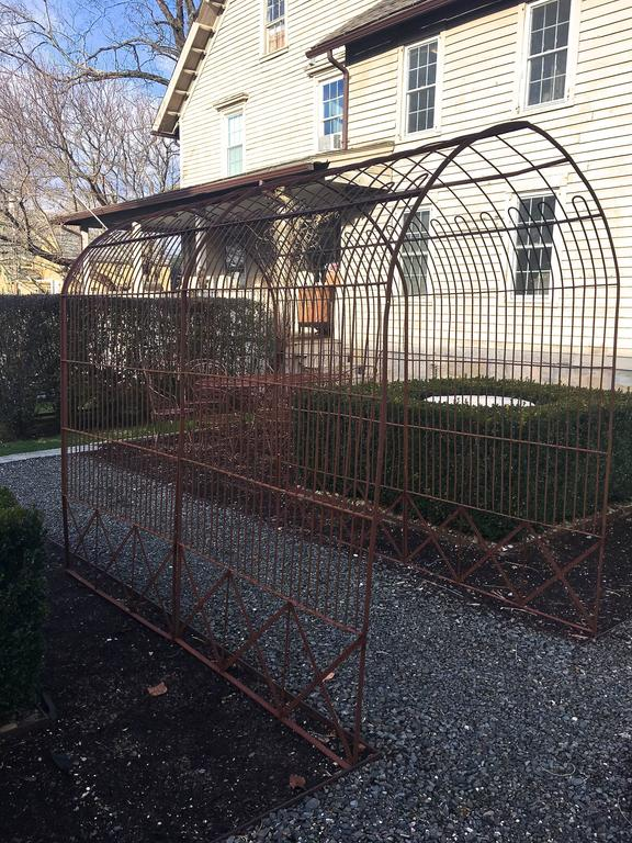 Rare Pair Of Wrought Iron Rose Tunnel Arbors For Sale At