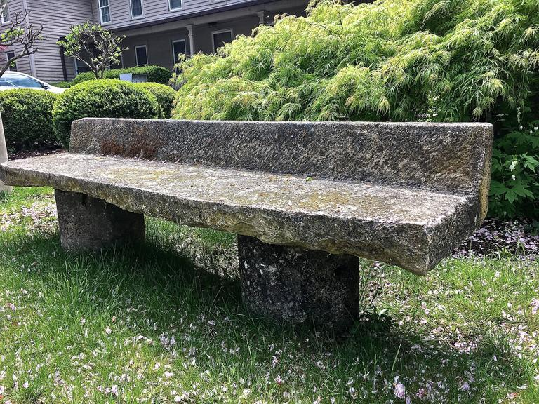 Carved Stone Bench : French th century estate sized carved stone bench at stdibs