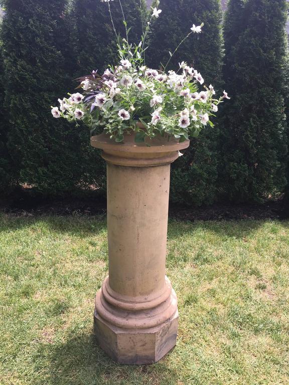 British Striking Tall 19th Century Terracotta Chimney Pot For Sale