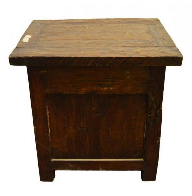 Antique 19th century javanese rustic bedside table with drawer and wood antique 19th century javanese rustic bedside table with drawer and storage for sale watchthetrailerfo