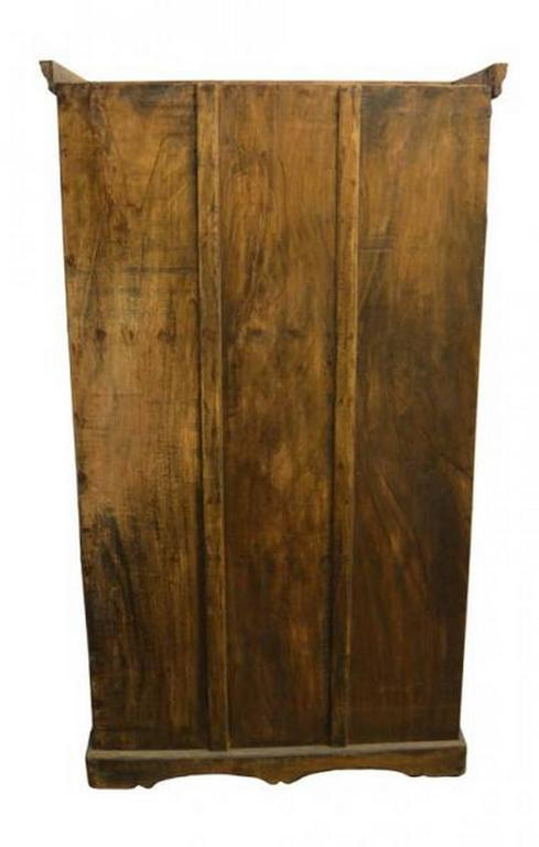 Indian cabinet or armoire with hand carved doors from