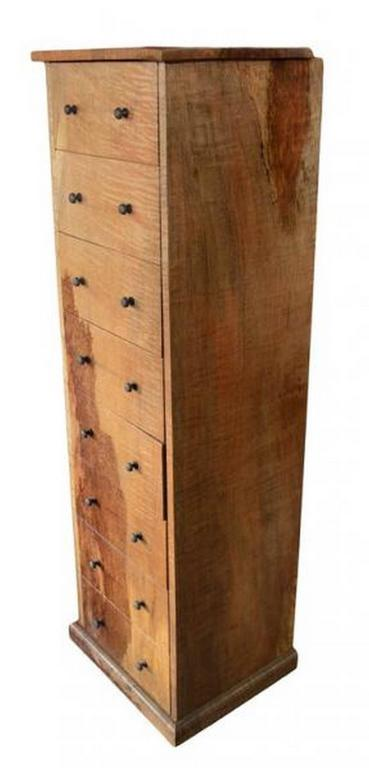 Indonesian Mango Wood Lingerie Cabinet With Eight Drawers From The 20th  Century In Good Condition For