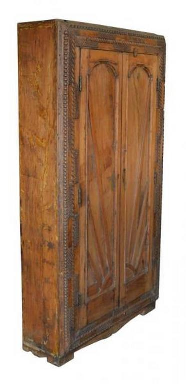 This Indian cabinet featuring geometrical hand carved doors comes from India during the deco period in  sc 1 st  1stDibs & 1930s Indian Cabinet with Geometrical Hand Carved Doors For Sale at ...