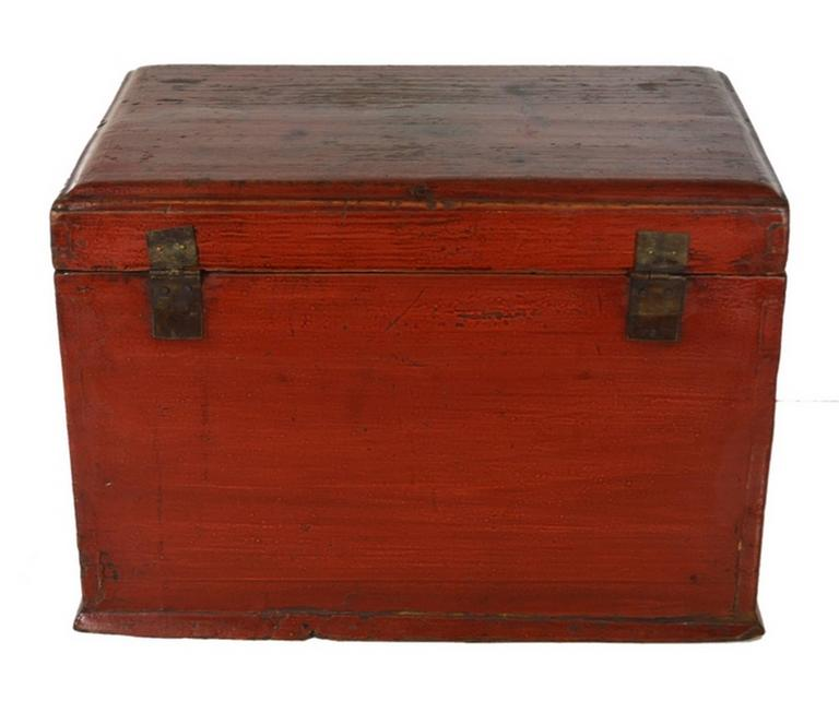 Wood Vintage Carved and Lacquered Jewelry Box with Drawers from China, 1950s For Sale