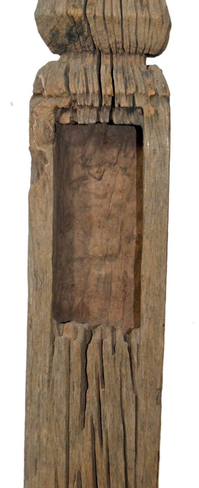 Hand-Carved Thai 19th Century Sculptural Architectural Fragment Possibly from a Spirit House For Sale