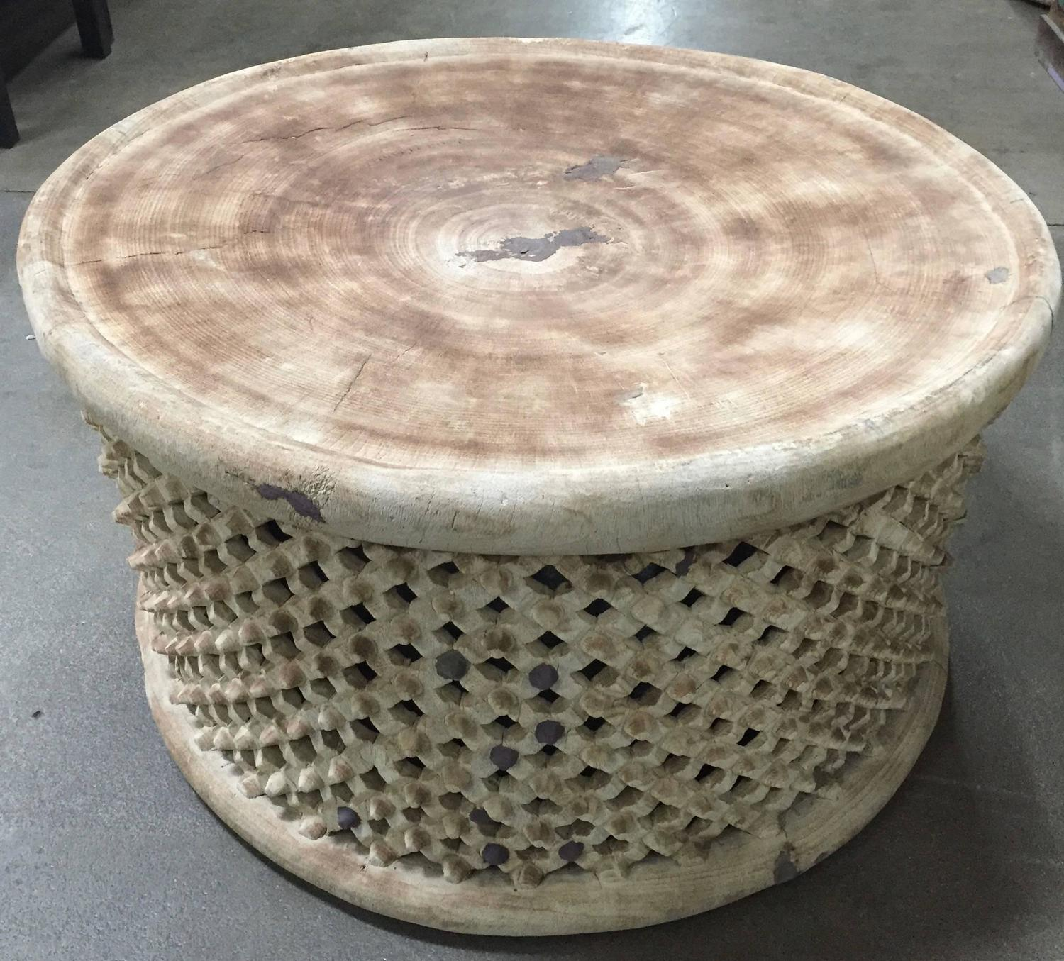 Light Colored Large African Coffee Cocktail Table Cameroon At 1stdibs