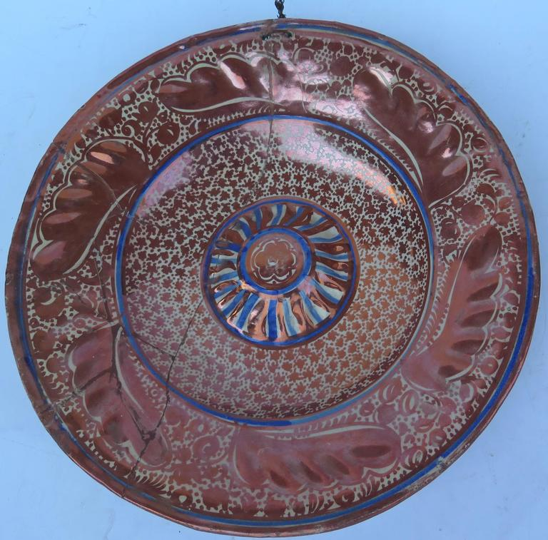 16th 17th Century Spanish Hispano Moresque Charger For