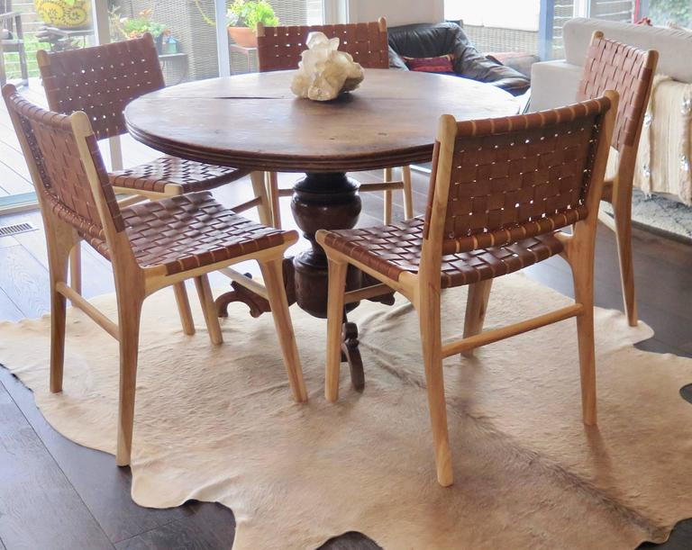 tile dining room chairs natural finish are
