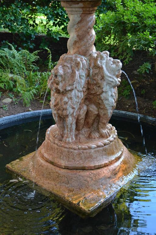 Italian Marble Fountain For Sale