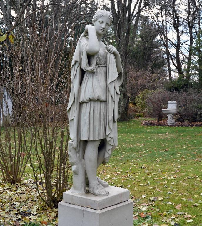 British Stoneware Figure of Diana For Sale