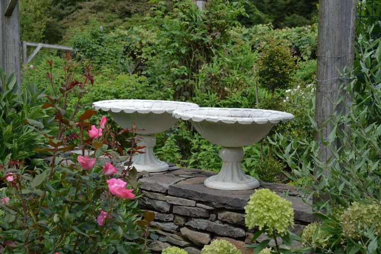 Late Victorian Cast-Iron Urns For Sale