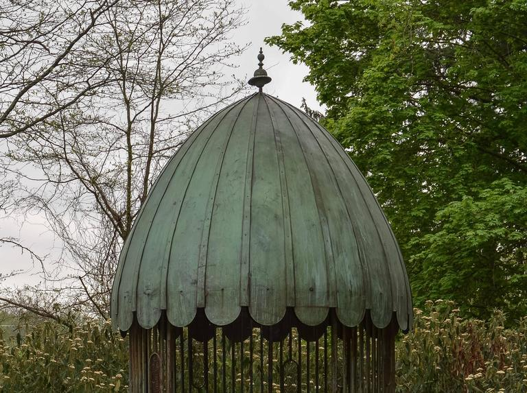 Gazebo with Copper Roof and Wrought-Iron Elements 9