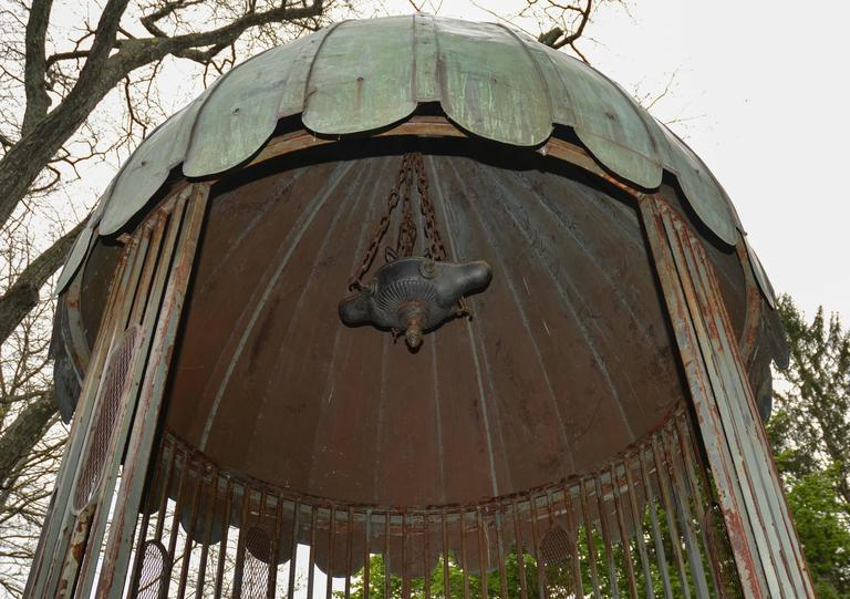Gazebo with Copper Roof and Wrought-Iron Elements 10