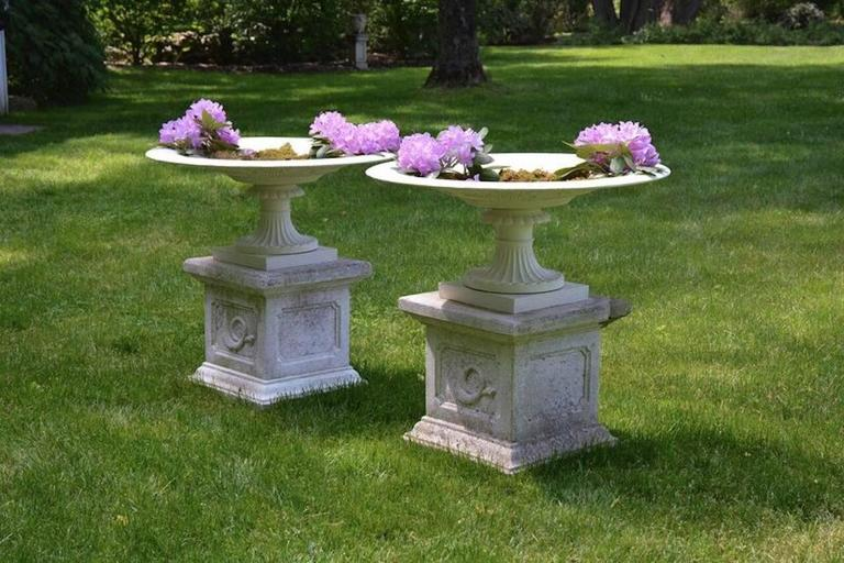Cast Urns of Low Tazza Form For Sale
