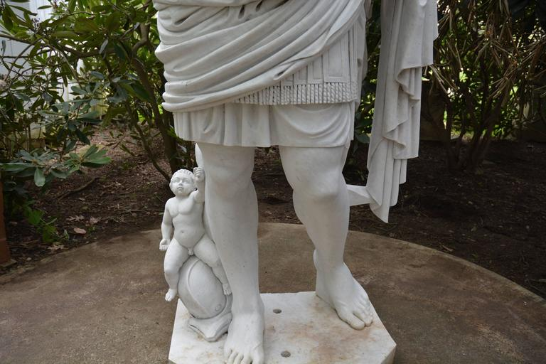 Italian Statue of Augustus of Prima Porta For Sale