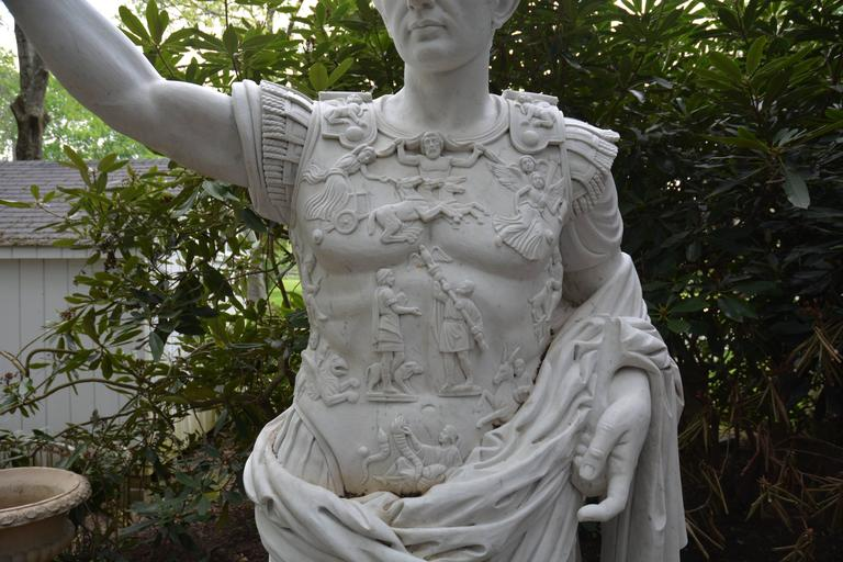 Marble Statue of Augustus of Prima Porta For Sale
