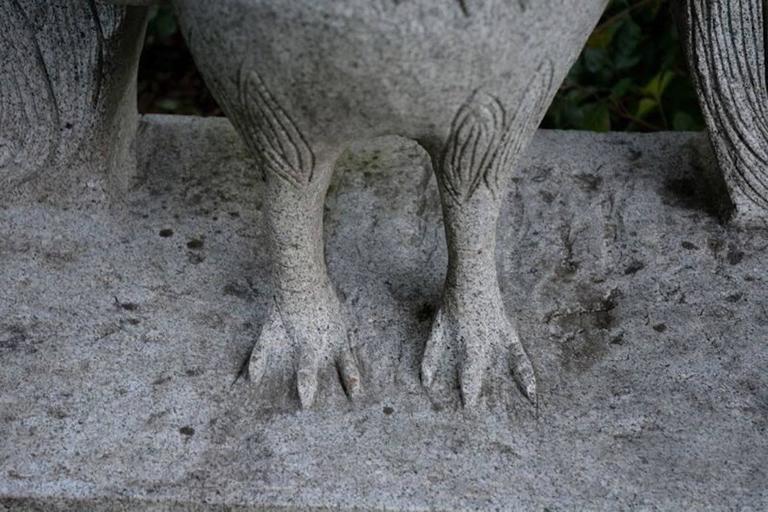 Sculpture of Granite Peacock 9