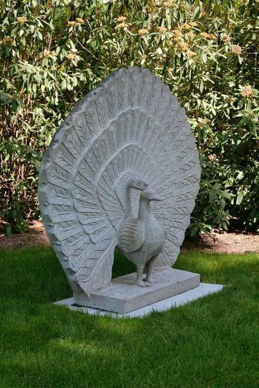 Sculpture of Granite Peacock 2