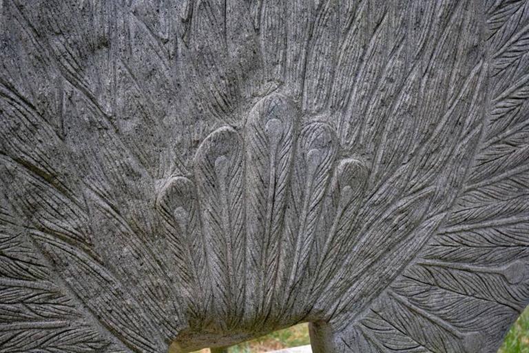 Sculpture of Granite Peacock 10