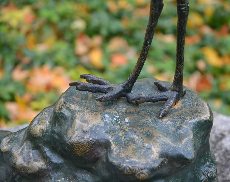Bronze Sculpture of Japanese Cranes 6