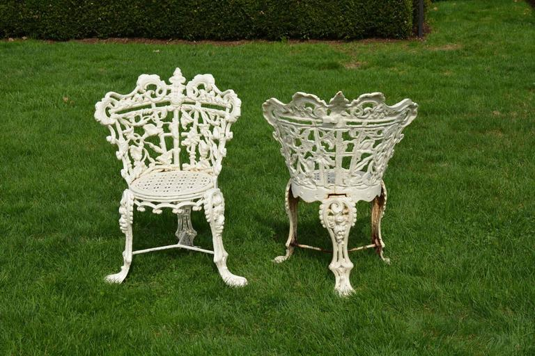 Garden Seat and Chairs in the Morning Glory Pattern 5