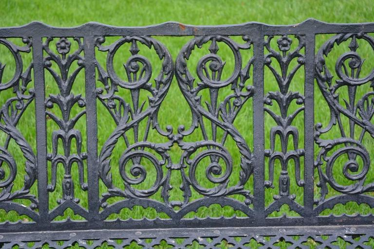 Cast Iron Curtain Style Bench For Sale 3