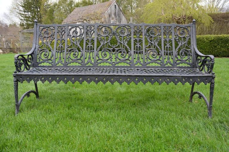 Cast Iron Curtain Style Bench In Good Condition For Sale In Katonah, NY