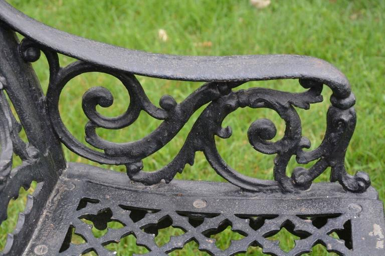 Cast Iron Curtain Style Bench For Sale 2