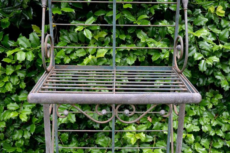 Wrought Iron and Brass Baker's Rack In Good Condition For Sale In Katonah, NY