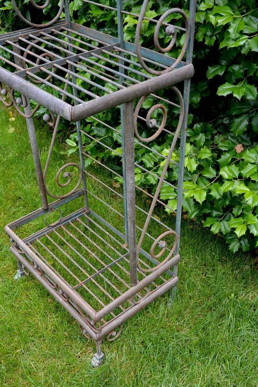 Wrought Iron and Brass Baker's Rack For Sale 2