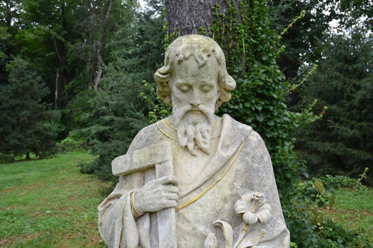 Carved Stone Statue of Saint Joseph 6