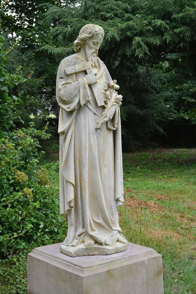 Carved Stone Statue of Saint Joseph 3