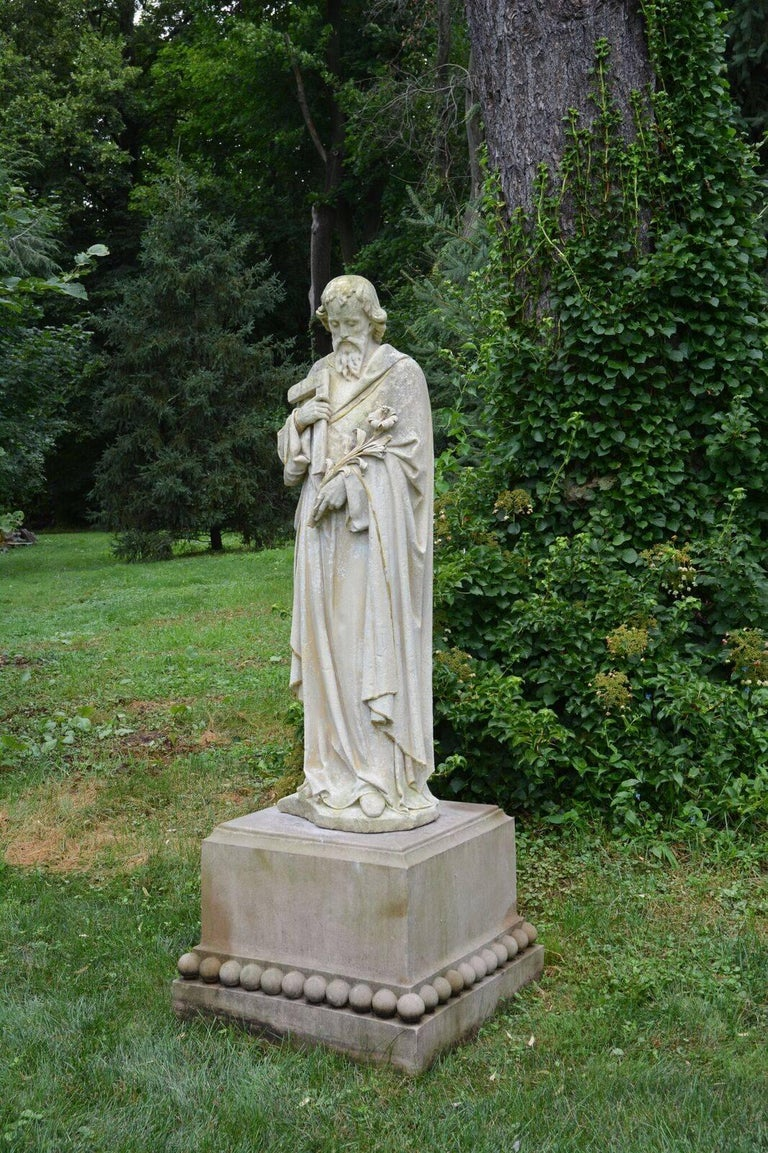 Carved Stone Statue of Saint Joseph 4