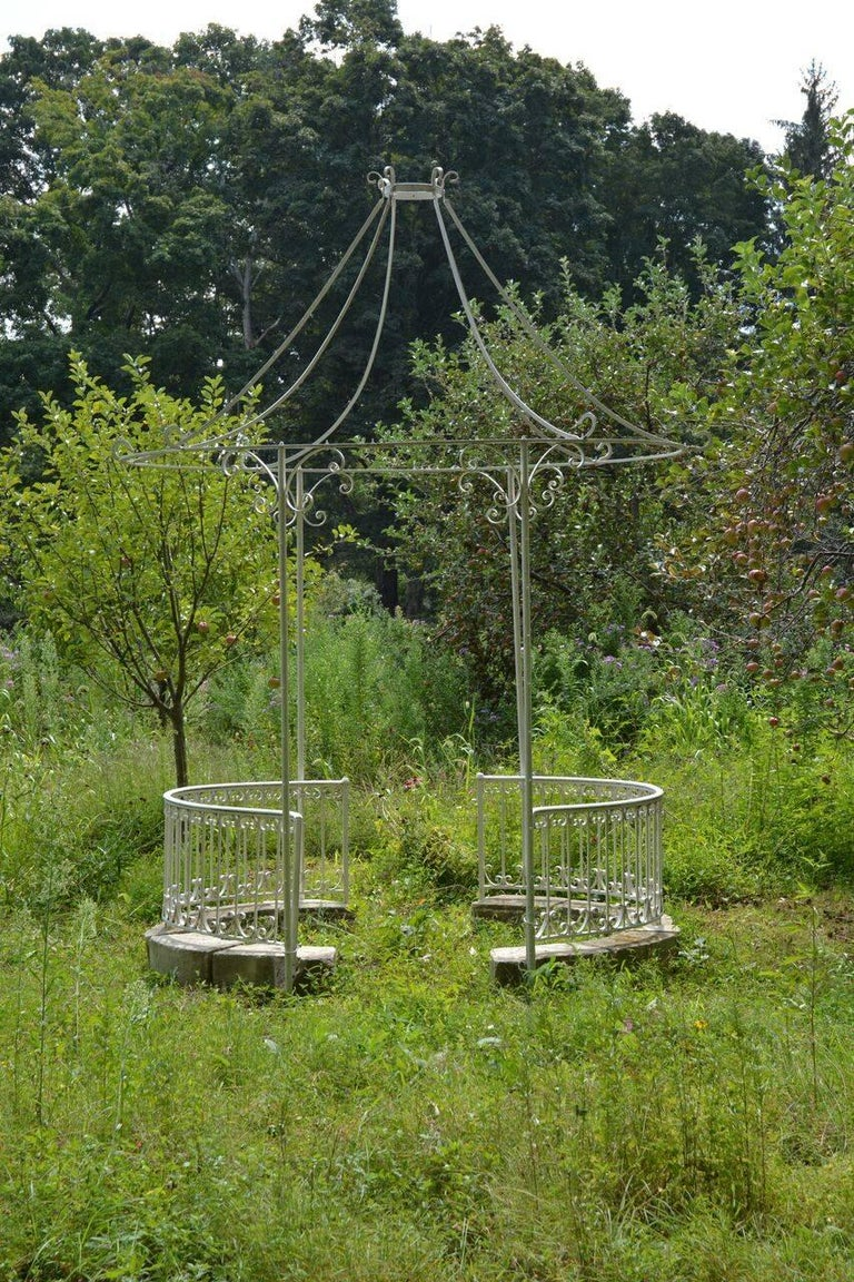 Neoclassical Wrought-Iron Gazebo For Sale