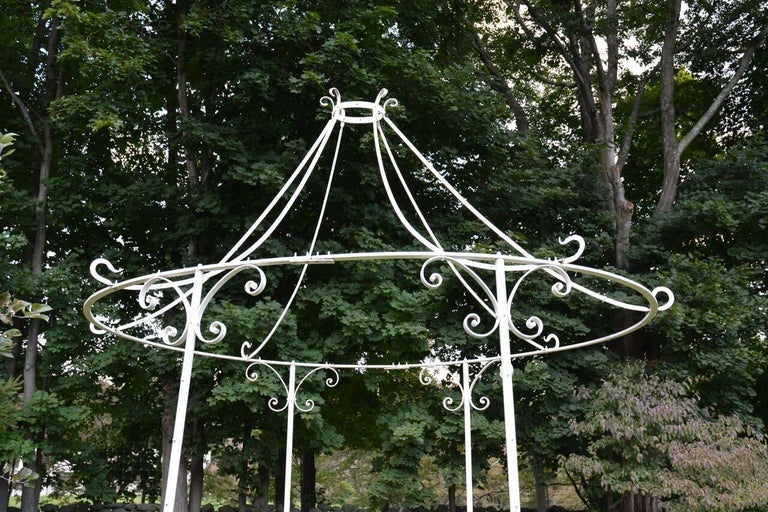 Wrought-Iron Gazebo In Good Condition For Sale In Katonah, NY
