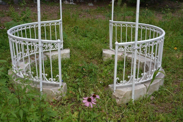 Early 20th Century Wrought-Iron Gazebo For Sale