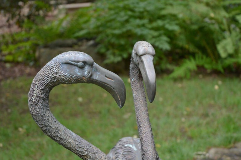 Pair of English Bronze Flamingoes 5