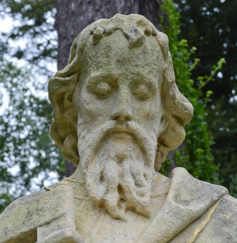 English Limestone Statue of St. Joseph In Good Condition For Sale In Katonah, NY