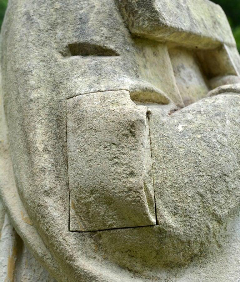 Stone English Limestone Statue of St. Joseph For Sale