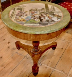 Rare and Period Italian Neoclassical Scagliola Center Table or Gueridon