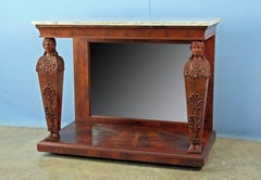 American Classical Period Pier Console Table Attributed to Joseph Barry, 1825