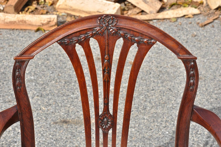 Carved Period 18th Century Set of Twelve Georgian Mahogany Dining Chiars For Sale