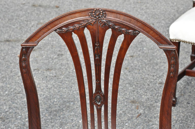 Period 18th Century Set of Twelve Georgian Mahogany Dining Chiars In Good Condition For Sale In Essex, MA